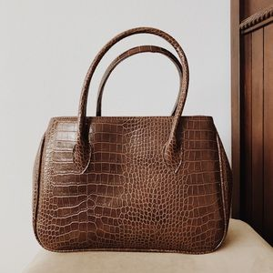 Handbags - Brown Alligator Purse Bag
